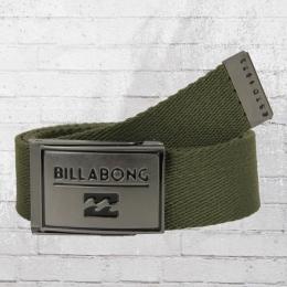 Billabong Unisex Stoff Gürtel Sergeant Belt olivgrün