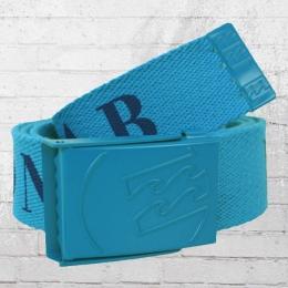 Billabong Unisex Stoff Gürtel Wagon Belt blau