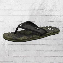 Billabong Zehentrenner Sandalen Spirit Camo grün schwarz
