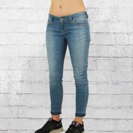 Blue Monkey Damen Cropped Jeans Laura blau