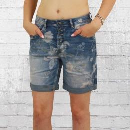 Blue Monkey Damen Jeans Short Alexis Print blau