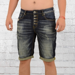Blue Monkey Herren Jeans Short Alex blau