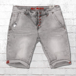Blue Monkey Herren Jeans Short Alex vintage grau