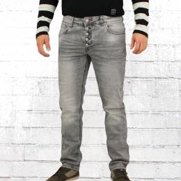 Blue Monkey Männer Jeans Alex grau