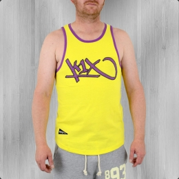 K1X Herren Muskelshirt Bootleg Tank Top yellow purple