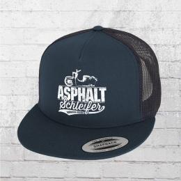 Bordstein Asphaltschleifer Moped Snapback Trucker Cap blau