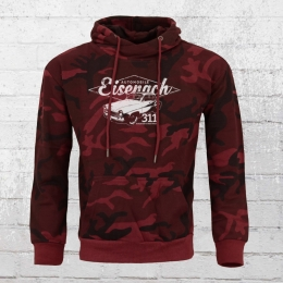 Bordstein Camo Hoody 311 Eisenach Kapuzensweater rot