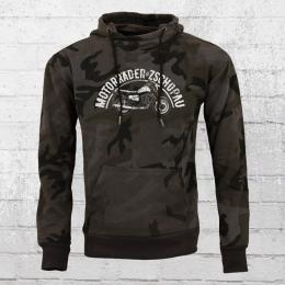 Bordstein Camo Kapuzen Sweater Motorräder aus Zschopau schwarz