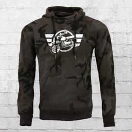 Bordstein Camouflage Hoody Logo Star Moped Vogelserie schwarz