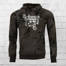 Bordstein Kapuzensweater TS 250 Zschopauer Motorräder schwarz camo