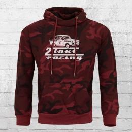 Bordstein Camouflage Kapuzen-Pullover Trabi 601 2-Takt Racing rot
