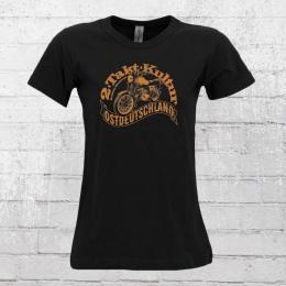 Bordstein Damen T-Shirt 2 Takt Kultur Ostdeutschland schwarz