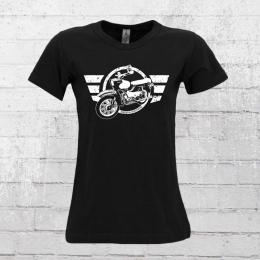 Bordstein Damen T-Shirt Star schwarz