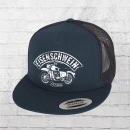 Bordstein Eisenschwein Snapback Trucker Cap blau