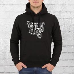 Bordstein Herren Hoody Zschopauer 2 Takt Motorräder TS 250 schwarz