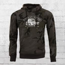 Bordstein Kapuzensweater Herren B1000 Pritsche schwarz camouflage