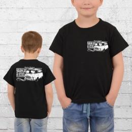 Bordstein Kinder T-Shirt B1000 Lieferwagen 2 schwarz