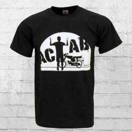Bordstein Männer T-Shirt A C A B Moped schwarz