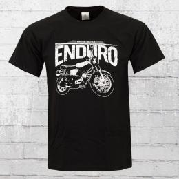 Bordstein Männer T-Shirt Enduro schwarz