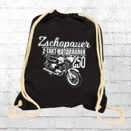 Bordstein Rucksack Beutel Zschopauer 2 Takt Motorräder schwarz