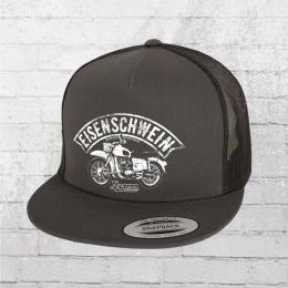 Bordstein Snapback Trucker Cap Eisenschwein grau