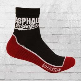 Bordstein Socken Mit Funktion Asphaltschleifer schwarz rot