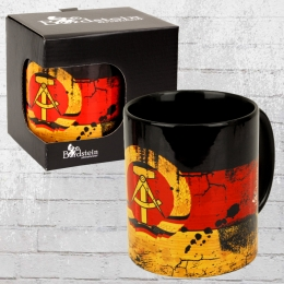 Bordstein Streetwear Kaffeebecher DDR Fahne Tasse bunt