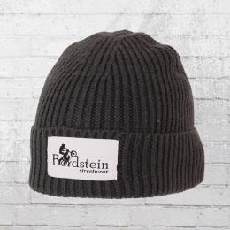 Bordstein Knitted Hat Short Label Beanie grey