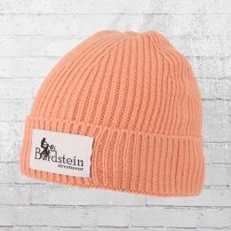 Bordstein Knitted Hat Short Label Beanie pink