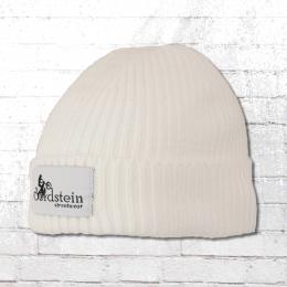 Bordstein Knitted Hat Short Label Beanie white