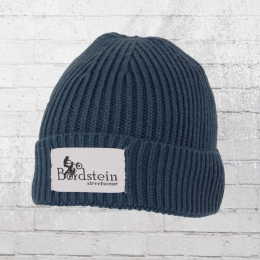 Bordstein Knitted Hat Short Label Beanie blue