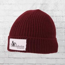 Bordstein Knitted Hat Short Label Beanie bordeaux