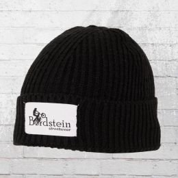 Bordstein Knitted Hat Short Label Beanie black