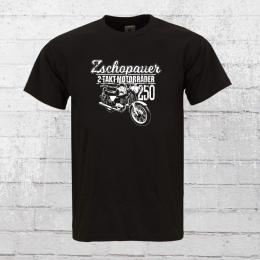 Bordstein T-Shirt 2 Takt Motorräder aus Zschopau TS 250 schwarz