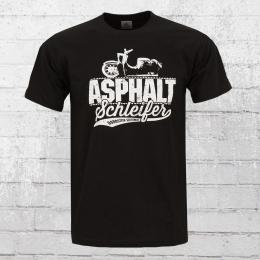 Bordstein T-Shirt Asphaltschleifer schwarz