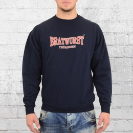 Bratwurst Thüringen Sweater Männer blau