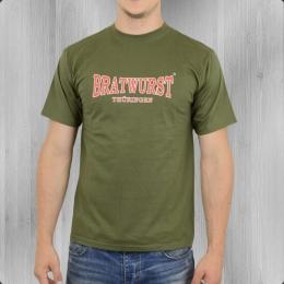 Bratwurst Thüringen T-Shirt oliv