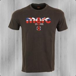 Merc London T-Shirt Männer Broadwell dunkelbraun