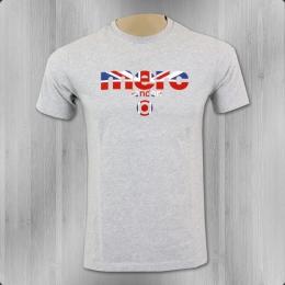 Merc London T-Shirt Männer Broadwell grau meliert