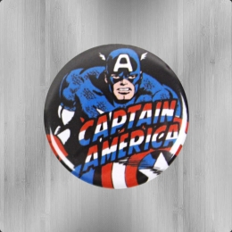 Logoshirt Comic Marvel Captain America Button Anstecker