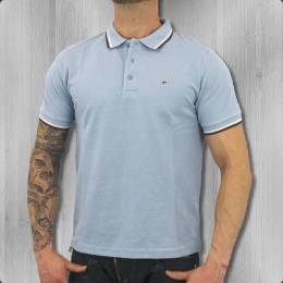 Merc London Herren Poloshirt Card dust blue
