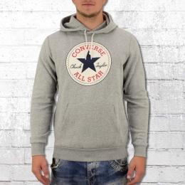 Converse All Star Herren Kapuzensweater Core Patch Hoody grau