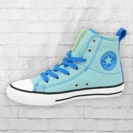 Converse Kinder Chucks Schuhe 651758C  Simple Slip Step Hi hellblau