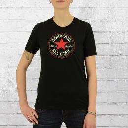 Converse Damen Boyfriend-Cut T-Shirt Core Solid Chuck Patch schwarz