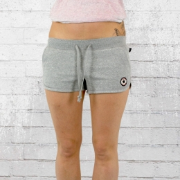 Converse Damen Hot Pants Core Chuck Patch Shorts grau meliert