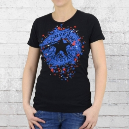 Converse Damen T-Shirt Stars CP SIG Crew schwarz