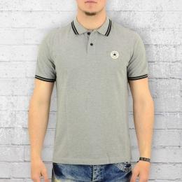Converse Herren Polo Shirt Core Pinstripe Vintage grau meliert