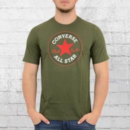 Converse Herren T-Shirt Core Chuck Patch oliv grün