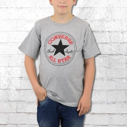 Converse Kinder Chuck Patch T-Shirt Kids grau melange