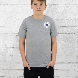 Converse Kinder Left Chest T-Shirt grau meliert